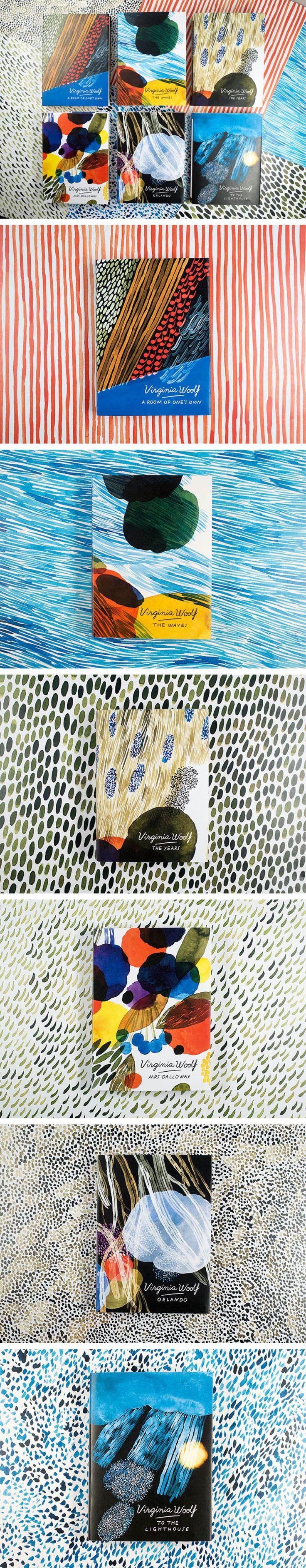 Virginia Woolf covers by illustrator Aino-Maija Metsola