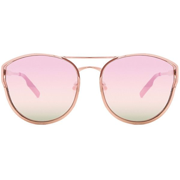 Quay Cherry Bomb Sunglasses (245 MYR) ❤ liked on Polyvore featuring accessories, eyewear, sunglasses, quay eyewear, quay sunglasses, metal frame sunglasses, metal frame glasses and uv protection glasses