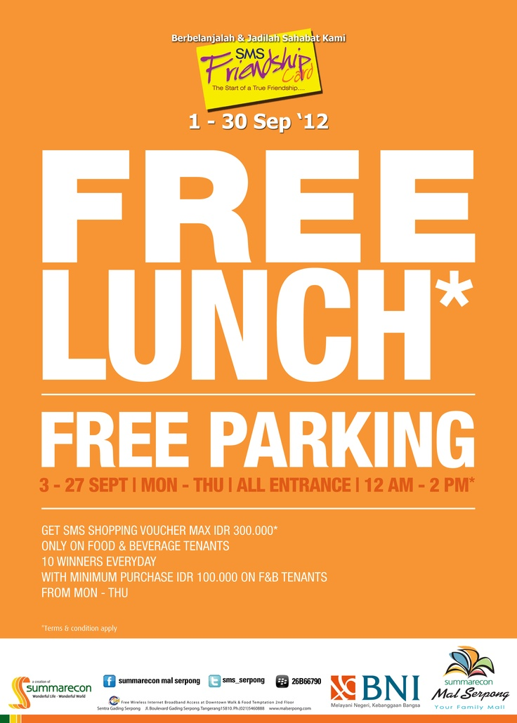 Free Lunch and Free Parking at September