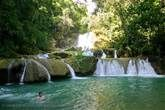 Pictures of the Caribbean - Jamaica - swimming at YS falls