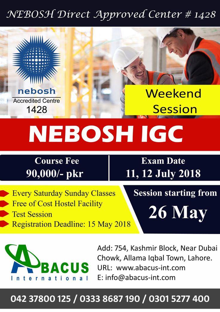 NEBOSH IGC Course in Lahore Pakistan Courses, Lahore