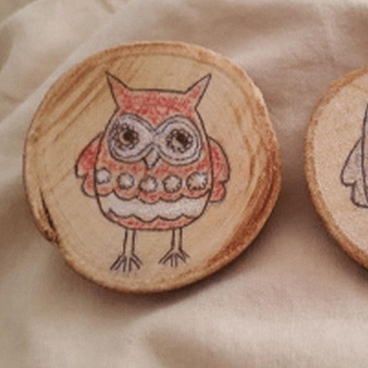 Déco sur rondins de bois ~ Jav et Anna | Mooka, le quotidien du DIY