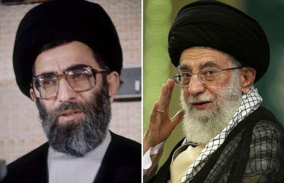 Ali Khamenei: 1982 and 2014 Supreme leader of Iran - ASSOCIATED PRESS; ASSOCIATED PRESS