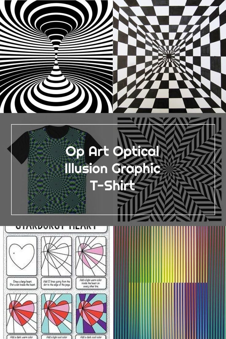 Op Art Optical Illusion Graphic T Shirt In 2020 Op Art Art Optical Optical Illusions