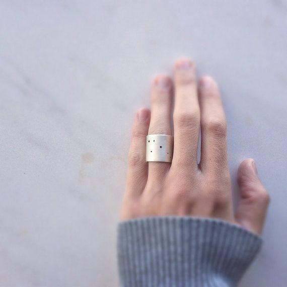 Constelación anillo, anillo de plata esterlina, anillo de declaración, anillo contemporáneo, anillo minimalista, minimalista