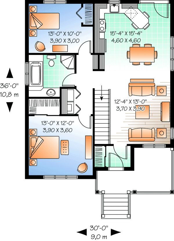 1000 ideas about granny flat plans on pinterest granny for Granny house plans