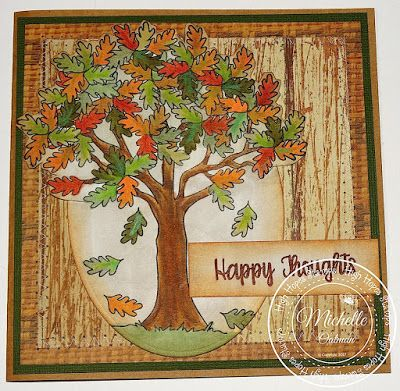 High Hopes Stamps: Fall Tree by Michelle