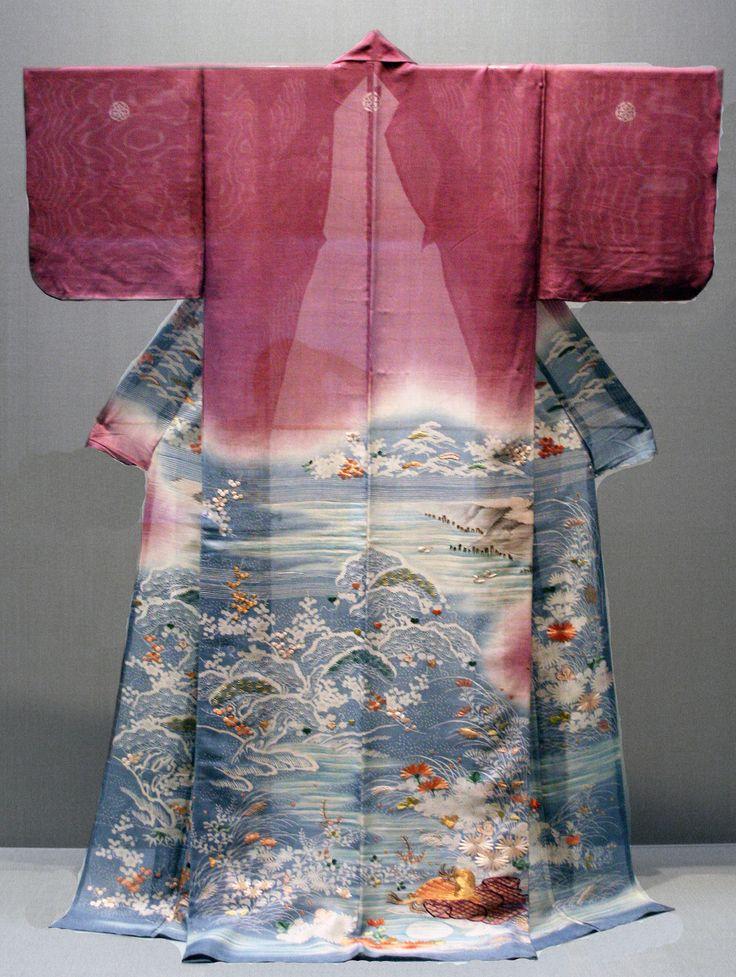 Katabiri summer silk kimono. 18th to early 19th century, Japan. Tokyo National Museum