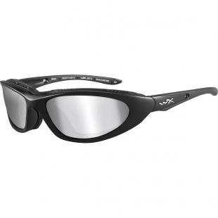 Wiley X Blink Sunglasses - Matte Black Frame/Polarized Grey Silver Flash  Lens