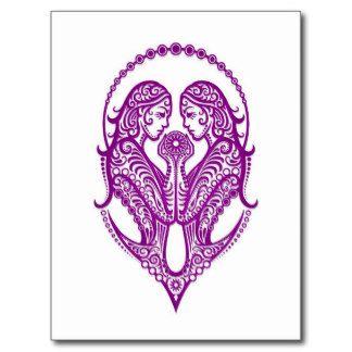 gemini symbols | Gemini Symbol Postcards