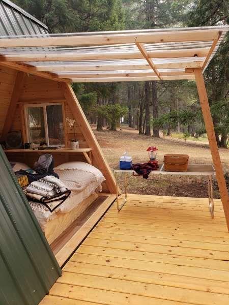 Star A-Frame Tiny Cabin – #Aframe #cabin #Star #Ti…