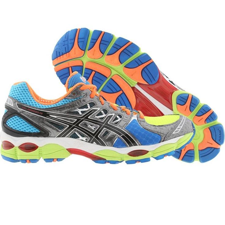 Asics Gel-Nimbus 14 (lite bright / black / blue) T241N-6990 · Fitness ShoesHigh  ...