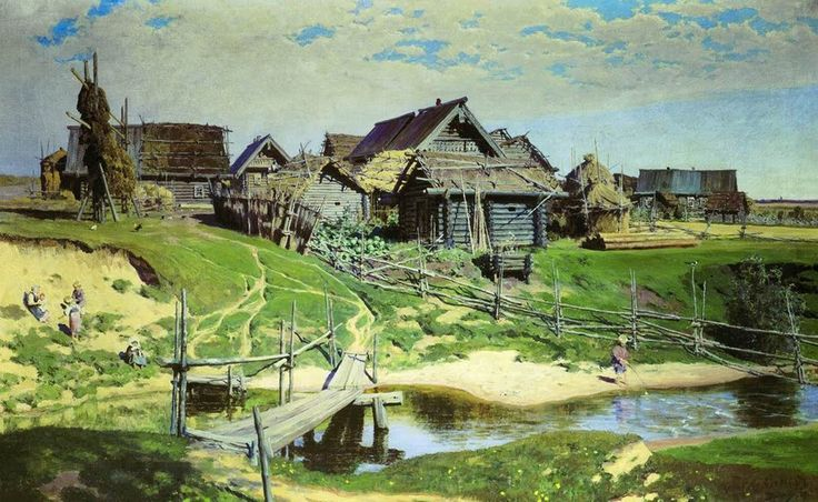 ukraine village painting - Google Search