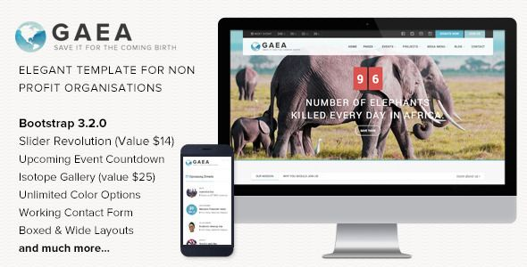 Gaea - Responsive Environmental HTML5 Template