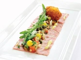 Recepten - Rosbief - salade - eierdooier
