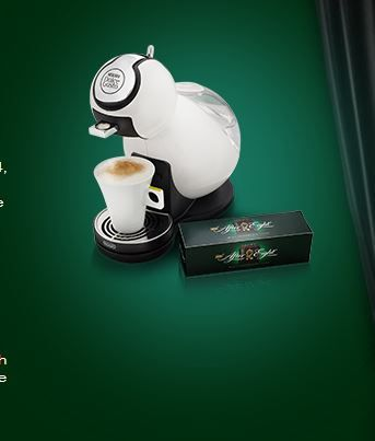 Win a Nescafe Dolce Gusto Coffee Machine. Simply answer a question and fill in the form with your details.