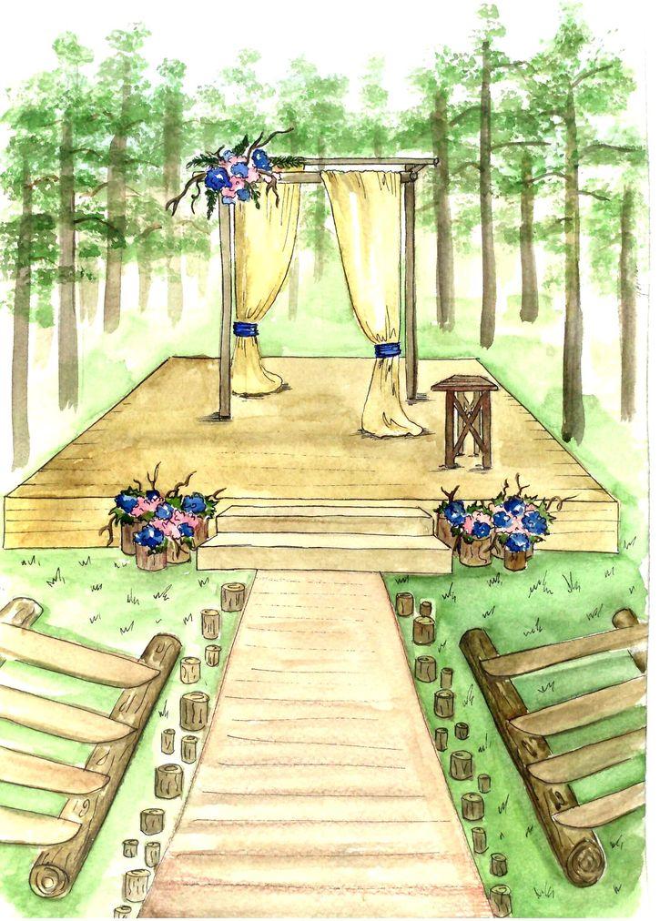 эскиз свадьбы