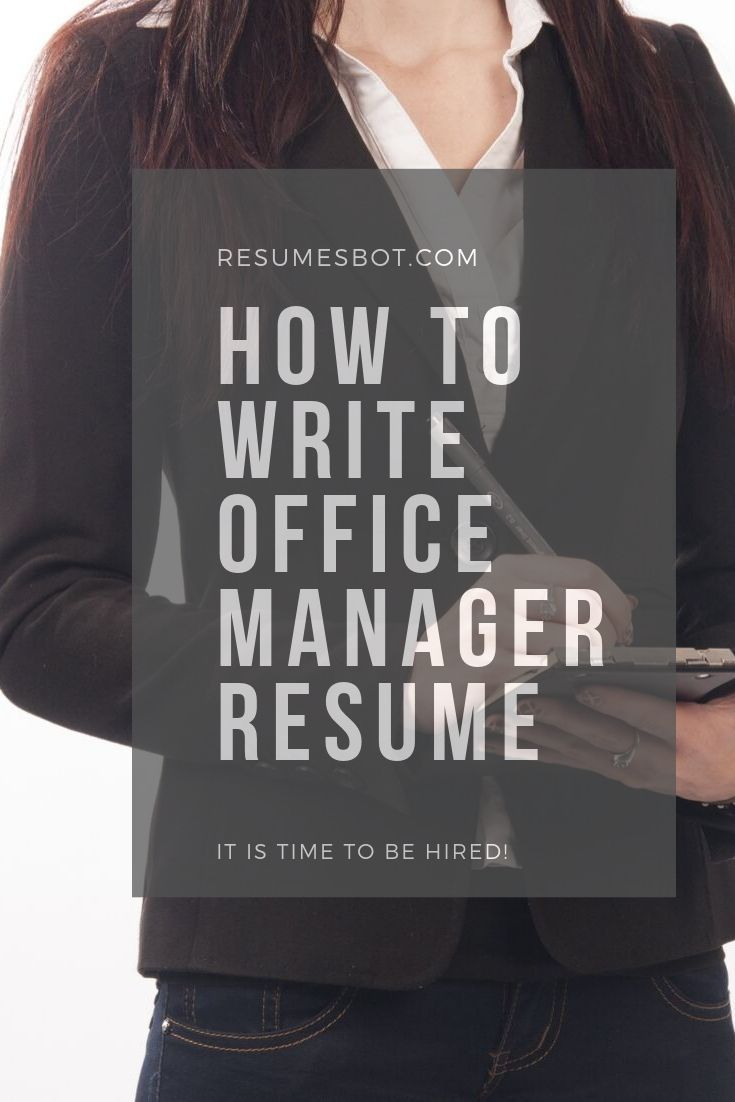 How To Write Office Manager Resume