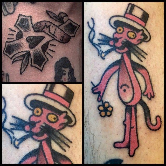 @xbobbbx #redberrytattoostudio #redberry #tattoowroclaw #redberrywroclaw #redberrypoland #wroclaw #amazingtattoo #toptattoo #inked #inks #poznan #opole #berlin #dresden #berlintattoo #bobrowicz #oldschool #pawelbobrowicz #pantera #rozowapantera #pinkpanther