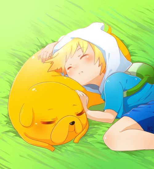 Adventure Time: Sleepy Puppies by Lezombie-kun.deviantart.com on @deviantART