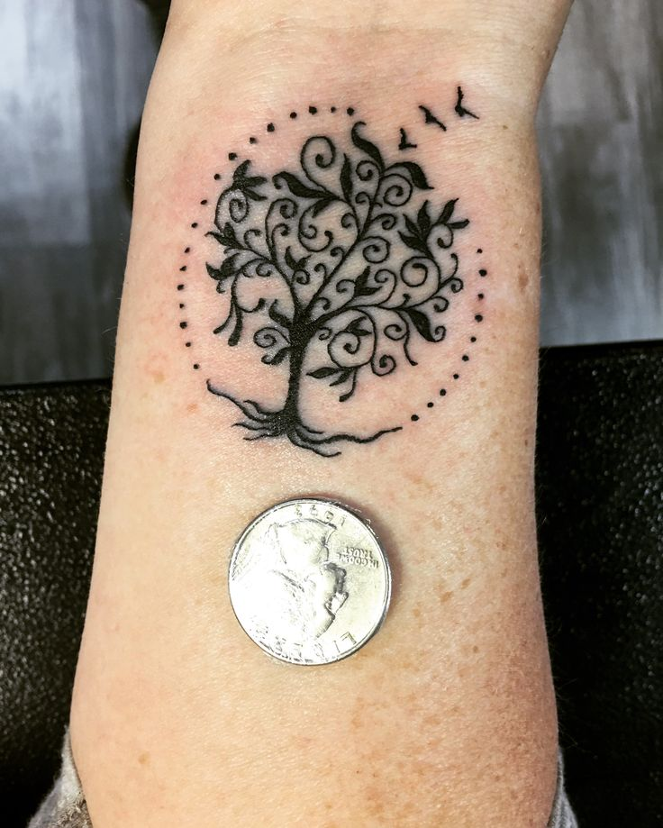 Tree Of Life Tattoo With Heart Roots: Life Tattoos, Tree Tattoo Small