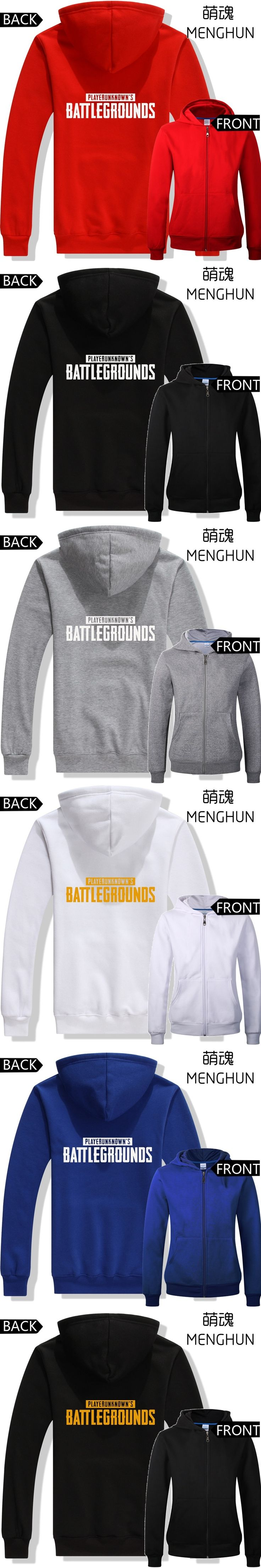 World hot suvival game PLAYER UNKNOWN'S BATTLEGROUNDS hoodies battle grounds hoodies men's hoodie game costumes ac660