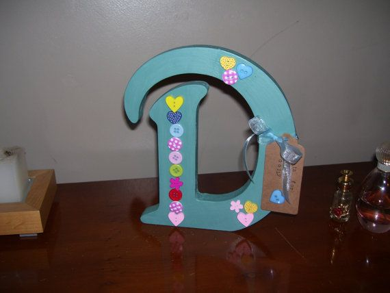 Hand Decorated Wooden Letters. by LittleTreatsGiftShop on Etsy
