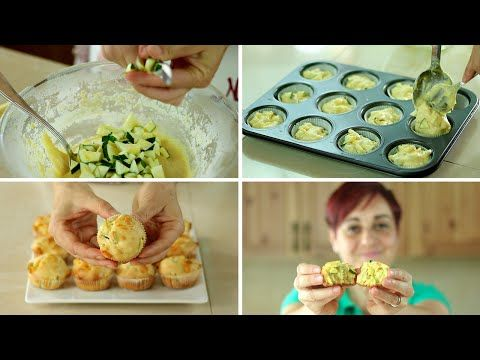 MUFFINS SALATI zucchine e Provola Ricetta Facile - Savoury Muffin with Zucchini and Provolone Recipe - YouTube