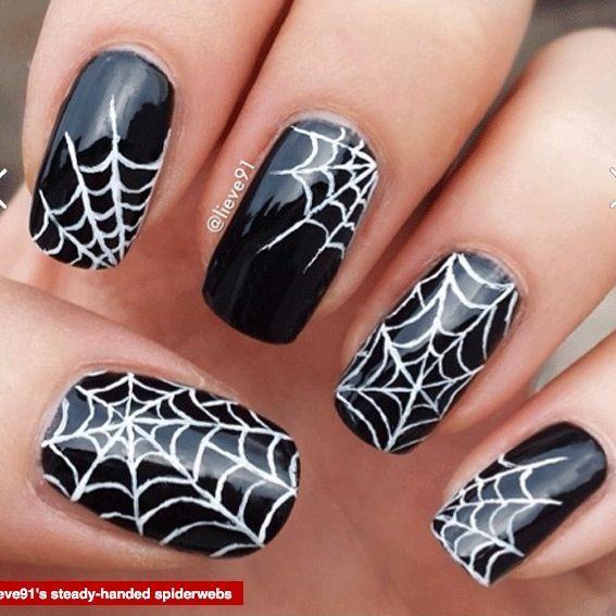 I always do spider webs
