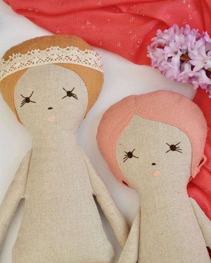 "3 Likes, 1 Comments -  Vanya  (@littlecraftyco) on Instagram: ""The little miss Tanya & Raya. Still waiting for their  fairy dresses.  #doll #dolls #handmadedoll…"""