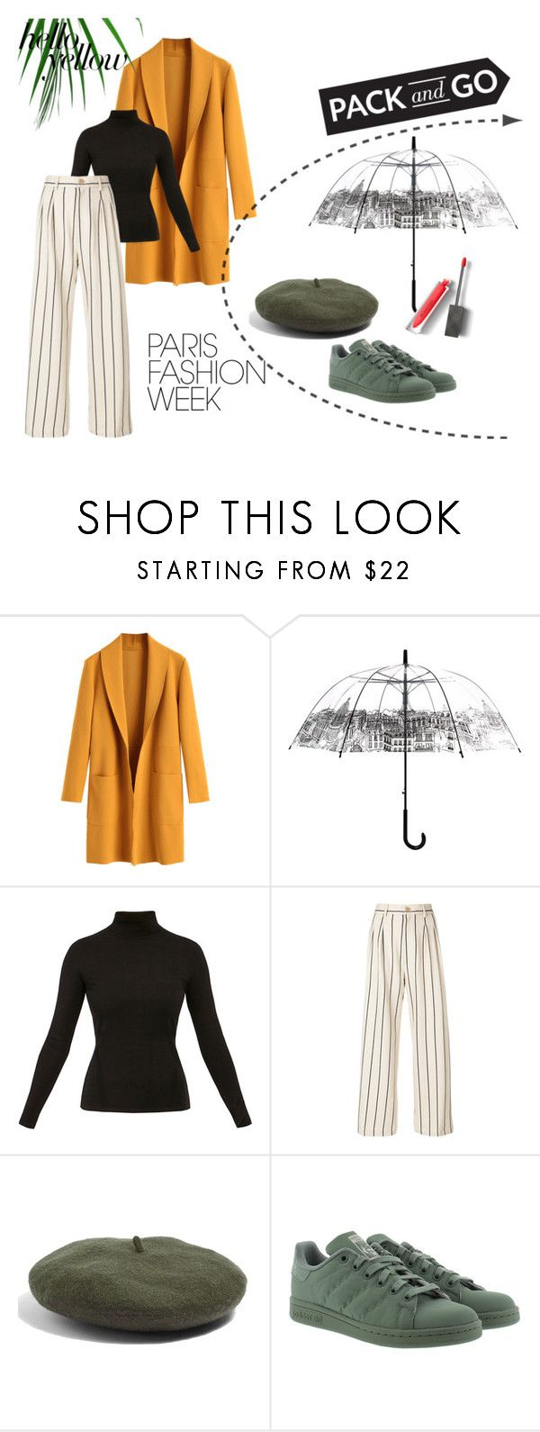 """""""PFW.sweetstreet"""" by toprkrna ❤ liked on Polyvore featuring Diane Von Furstenberg, Erika Cavallini Semi-Couture, Topshop, adidas Originals, Burberry, PopsOfYellow and NYFWYellow"""
