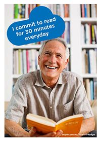 I commit to read for 30 minutes everyday @BupaAustralia #health #pledge #books #read