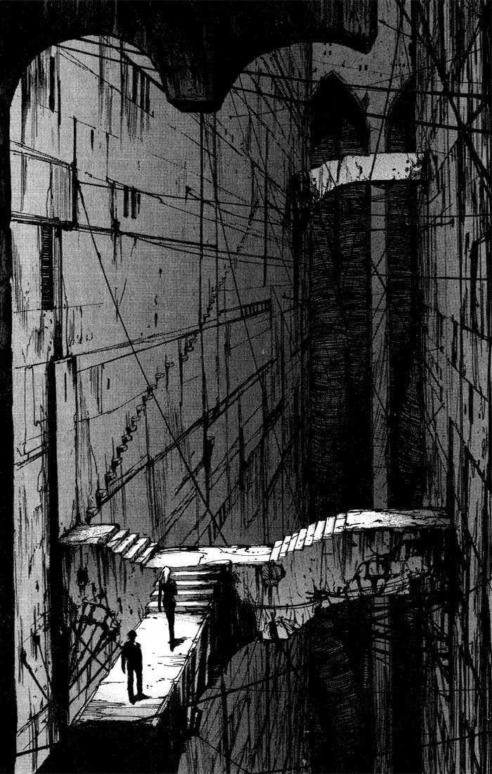 One of the panels of manga book Blame!, created by Tsutomo Nihei. Epic stuff.