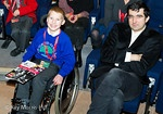 Vladimir Kramnik with a young fan from Grove Park School before the start of Round 3