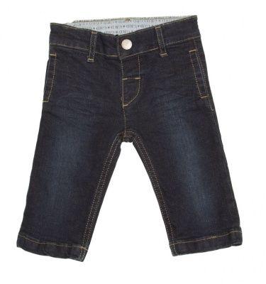 Vaquero niño con cintura de goma ajustable, botón y bragueta falsa - Pantalones de Niña y Niño hasta los 4 Años - Mundo Kiriko
