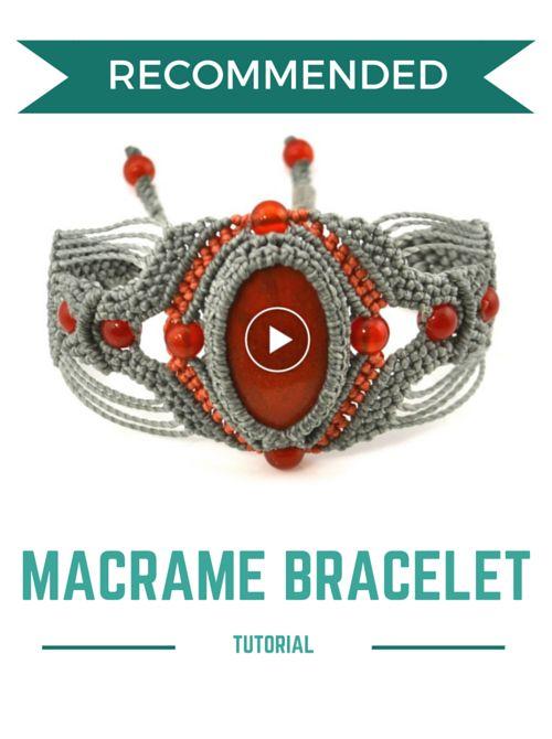Macrame Bracelet Tutorial                                                                                                                                                                                 Más