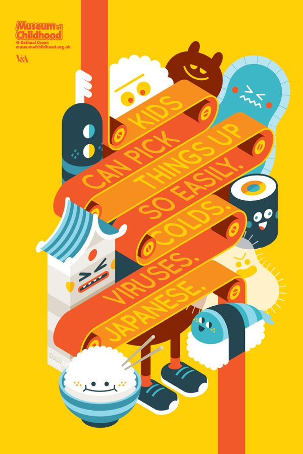 Museum of Childhood by Loulou and Tummie , via Behance - love this #type