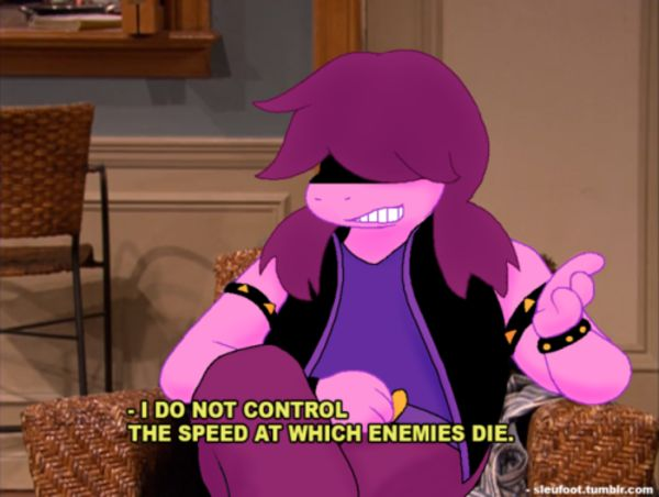 Susie Cannot Control The Speed At Which Enemies Die Deltarune Enemy Undertale Susie