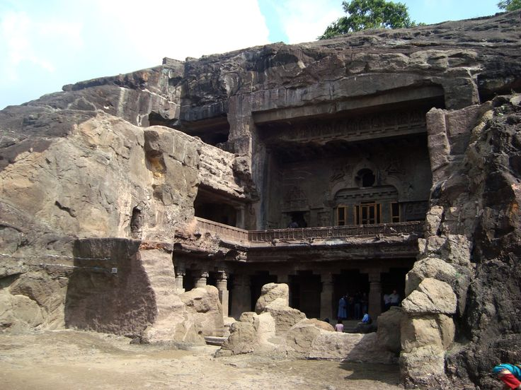 """Ellora: rock-cut Architecture of India - Ellora is a World Heritage Site, 29 km (18 mi) North-West of Aurangabad, in the Indian state of Maharashtra, built by the Rashtrakuta dynasty. Well known for its monumental caves, Ellora represents the epitome of Indian rock-cut architecture. The 34 """"caves"""" – actually structures excavated  out of the vertical face of the Charanandri hills.Buddhist, Hindu and Jain rock-cut temples and viharas and mathas were built between the 5th century and 10th…"""