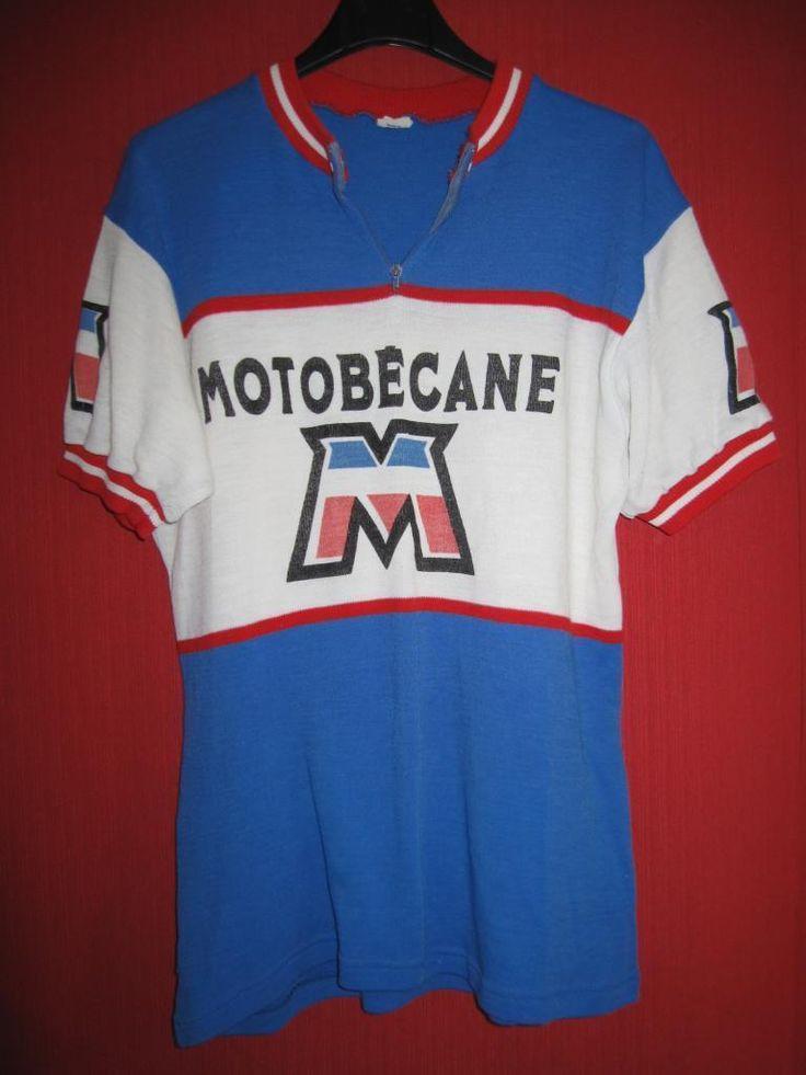Maillot Cycliste Vintage Motobecane 70'S Ancien Tour DE France M | eBay