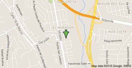 Mapa de Bahía Concepción 3451, El Mirador, Tijuana, B.C.