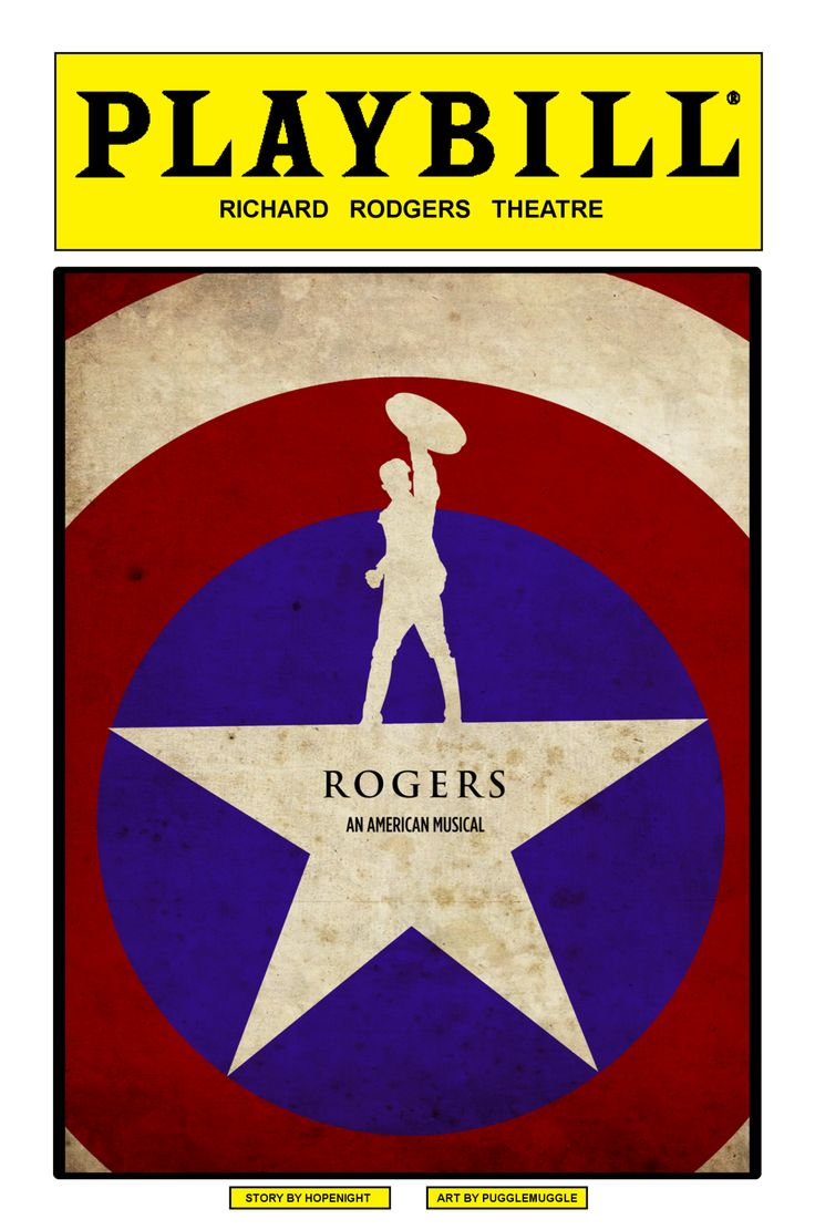 ROGERS: An American Musical || MCU where Lin Manuel-Miranda picks up an 800-page biography of Steve Rogers. Inspired, he writes a hip-hop musical based on Steve Rogers life.
