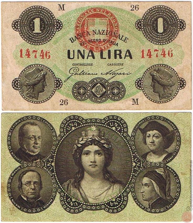 1 LIRA - 1869 1873