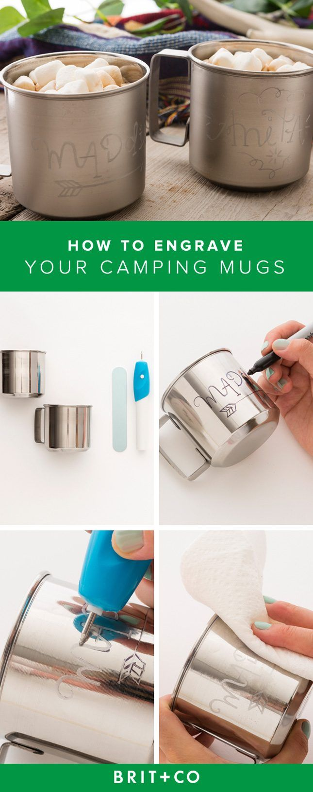 Up Your Camping Gear Game With Engraved Camp Mugs | Brit + Co