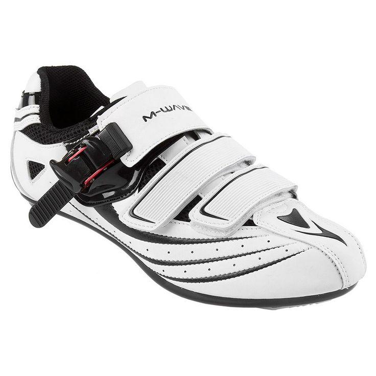 M-Wave R1 Road Bike Shoe, Men's, Size: 8.5, White
