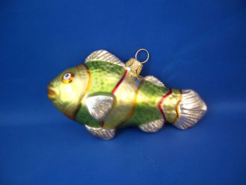 Tropical clown fish sea life blown glass Christmas ornament Poland 022014