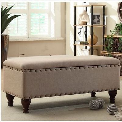 Sitting Bench With Storage Bedroom Furniture Seat Ottoman Upholstered Fabric - 25+ Best Ideas About Ottoman With Storage On Pinterest Storage