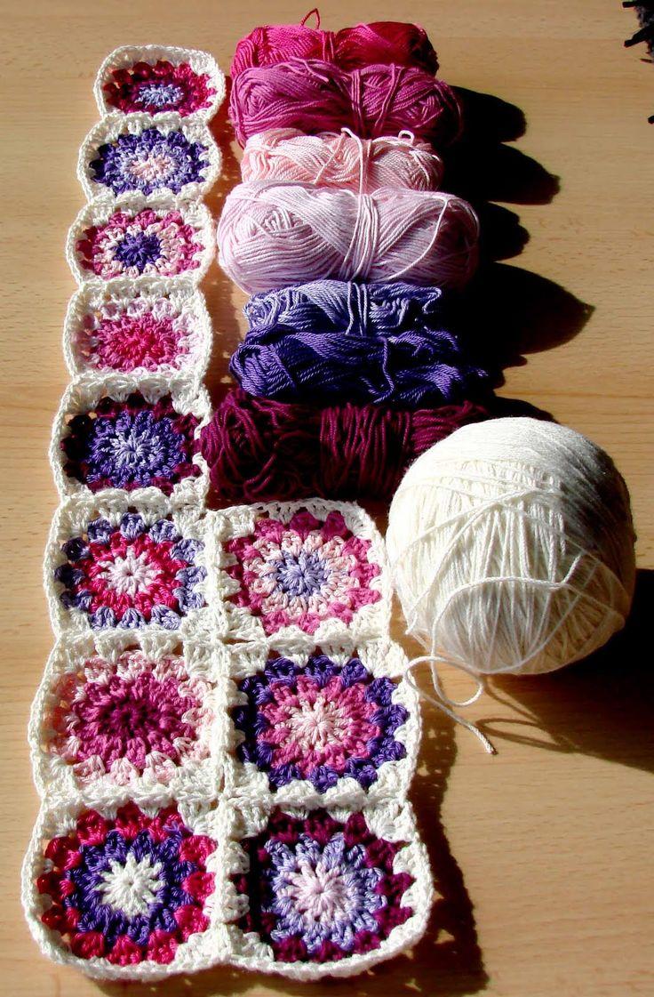 baby granny squared blanket #crochet