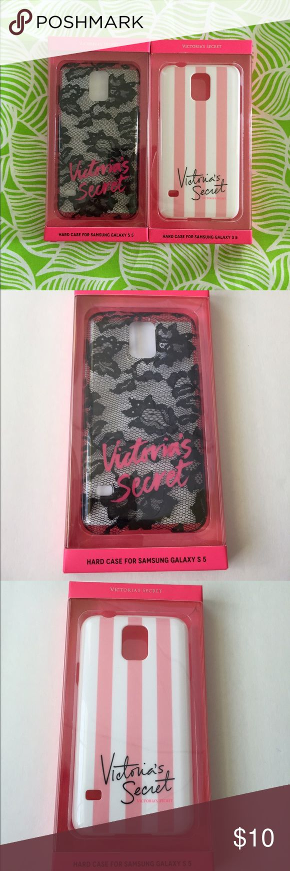 2 Victoria Secret Galaxy S5 phone case 2 New in box Victoria Secret Samsung Galaxy S5 phone hard case.  This is for Galaxy S 5.    trades Victoria's Secret Accessories Phone Cases
