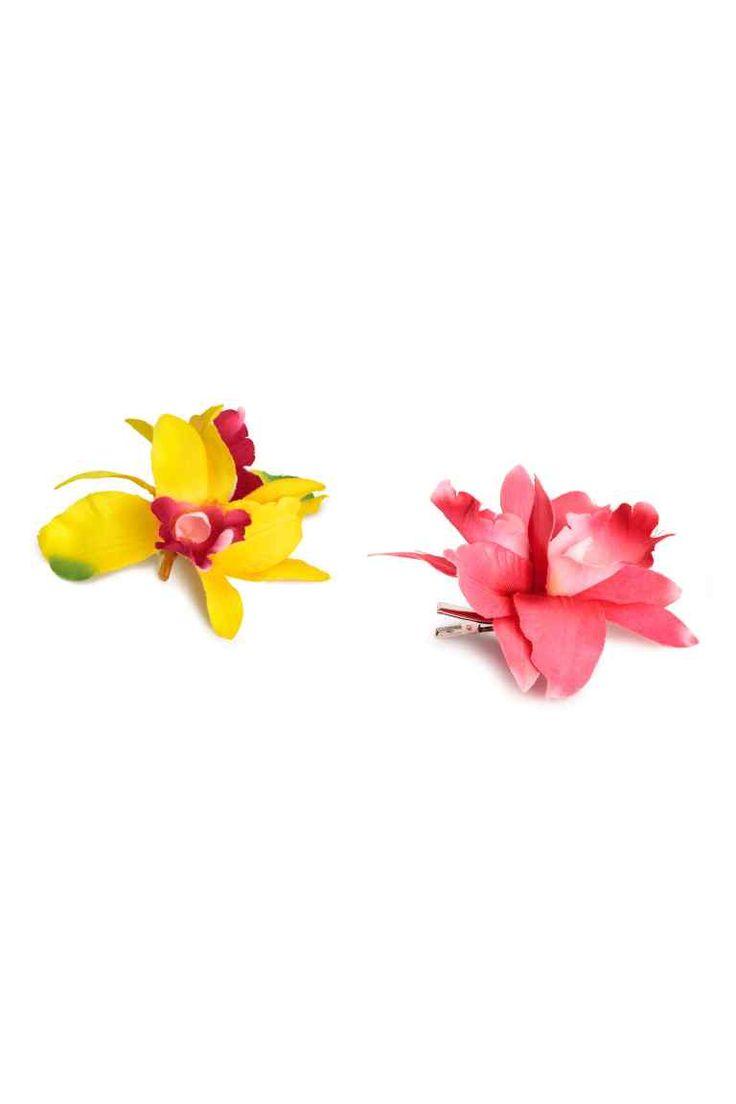 Clame de păr cu floare, 2 buc. | H&M
